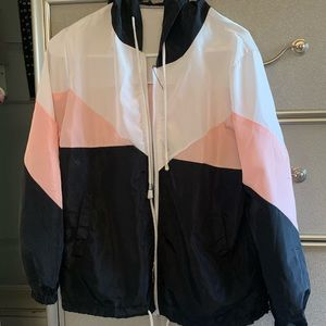 SHEIN Other - White Pink and Blank Windbreaker